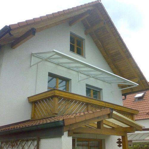 Balkonüberdachung aus Glas von Stefan Lutz Überdachungen