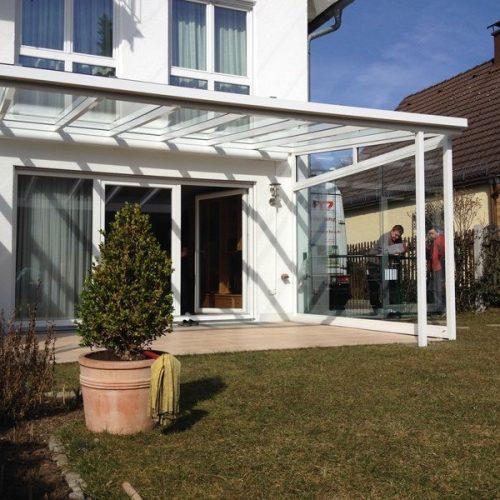 Terrassenüberdachung aus Glas von Stefan Lutz Überdachungen