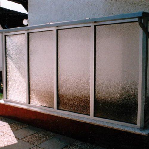 Kellerabgang mit Sichtschutzglas von Stefan Lutz Überdachungen