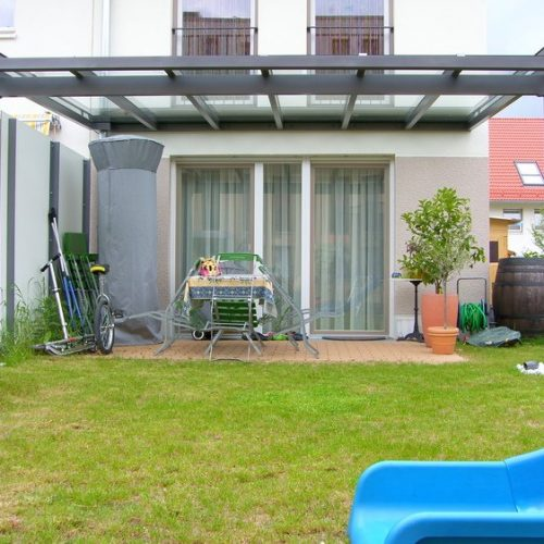 Terrassenüberdachung aus Aluminium, flach