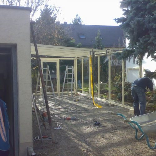 Bau eines Wintergartens Stefan Lutz Überdachungen