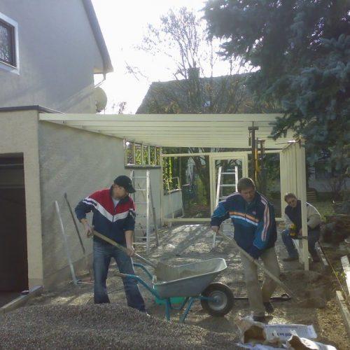 Bau eines Wintergartens