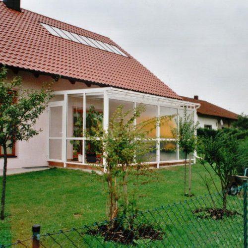 Referenzbild eines Wintergartens aus Alu von Stefan Lutz Überdachungen