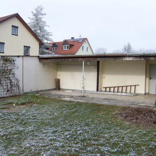 Ansicht vor dem Bau des Wintergartens