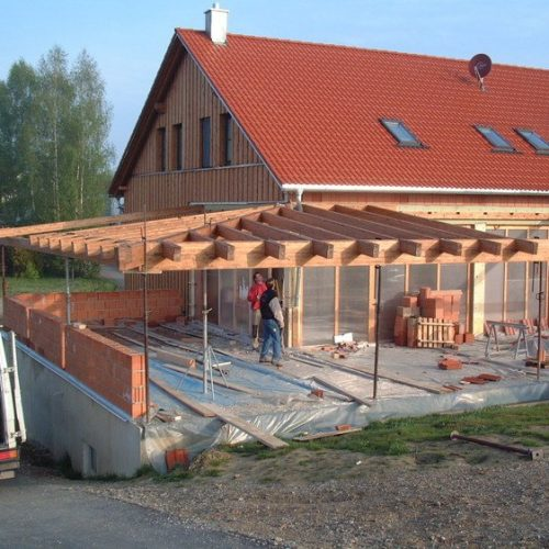 Bau einer Wintergartenkonstruktion aus Holz von Stefan Lutz Überdachungen