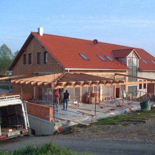 Bau eines Wintergartens mit Holzkonstruktion von Stefan Lutz Überdachungen
