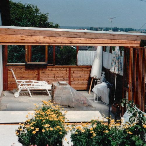 Referenzbild eines Wintergartens aus Holz und Glas von Stefan Lutz Überdachungen