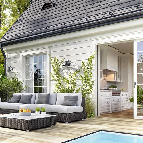 Gartentüren und Terrasse