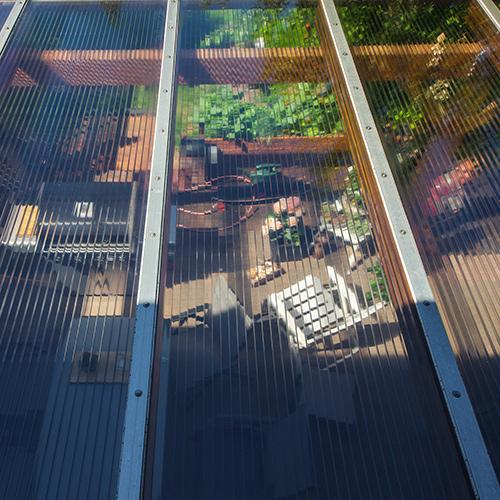 Terrassenüberdachung von oben